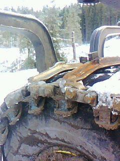 Broddning skogsmaskinsband